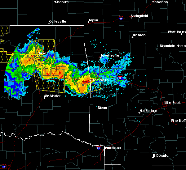 Radar Image for Severe Thunderstorms near Huntington, AR at 7/11/2020 10:35 PM CDT