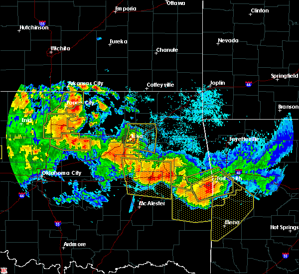 Radar Image for Severe Thunderstorms near Claremore, OK at 7/11/2020 10:40 PM CDT