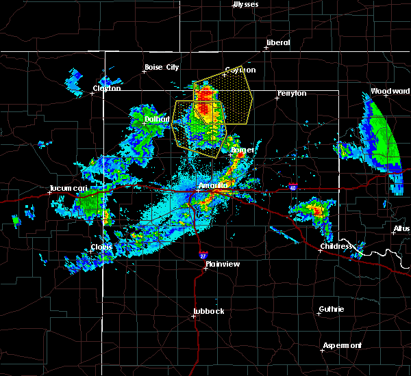 Radar Image for Severe Thunderstorms near Fritch, TX at 7/11/2020 10:42 PM CDT