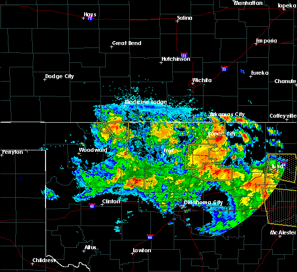 Radar Image for Severe Thunderstorms near Morrison, OK at 7/11/2020 10:46 PM CDT