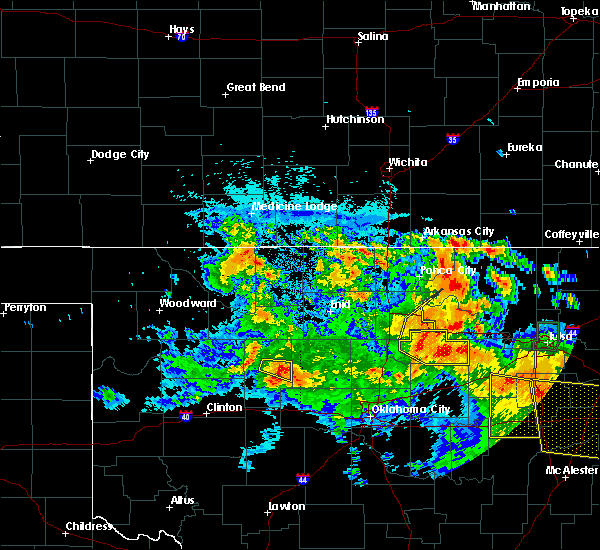 Radar Image for Severe Thunderstorms near Morrison, OK at 7/11/2020 10:55 PM CDT