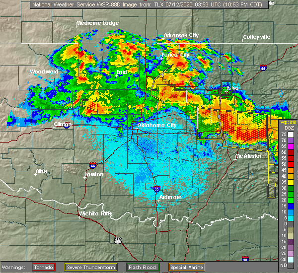 Interactive Hail Maps Hail Map For Drumright Ok