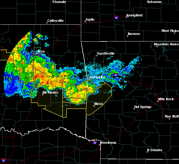 Radar Image for Severe Thunderstorms near Cove, AR at 7/11/2020 11:08 PM CDT