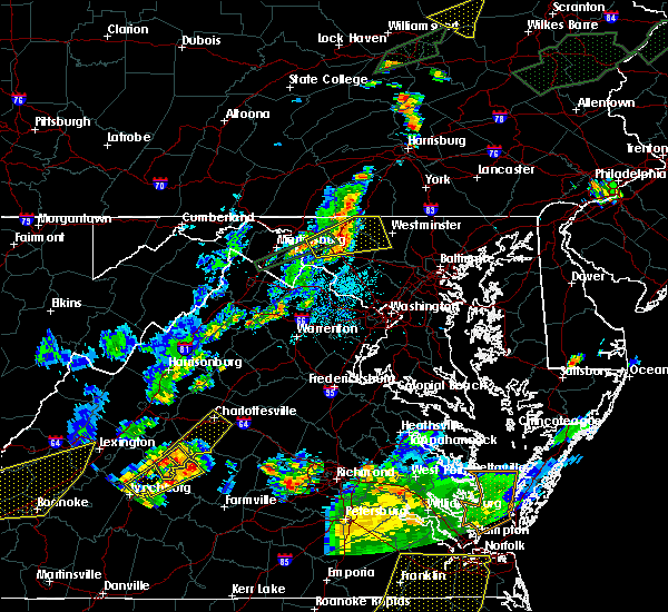 Radar Image for Severe Thunderstorms near Union Bridge, MD at 6/30/2015 10:34 PM EDT