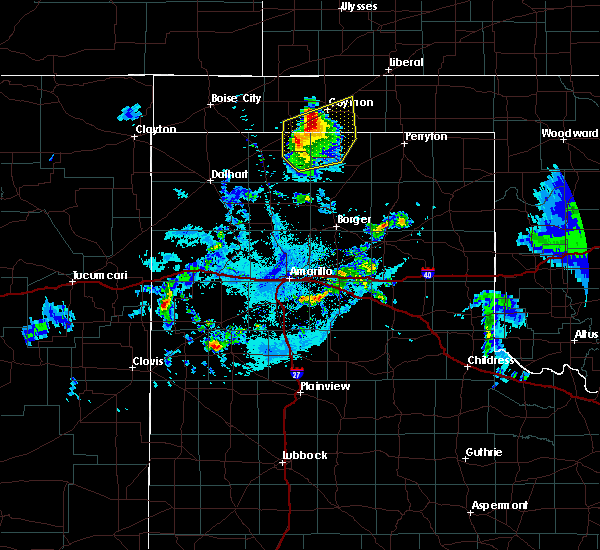 Radar Image for Severe Thunderstorms near Optima, OK at 7/11/2020 11:18 PM CDT