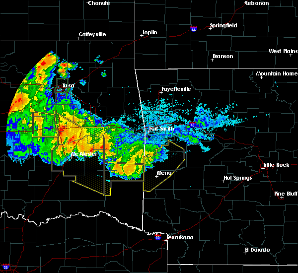 Radar Image for Severe Thunderstorms near Cove, AR at 7/11/2020 11:21 PM CDT