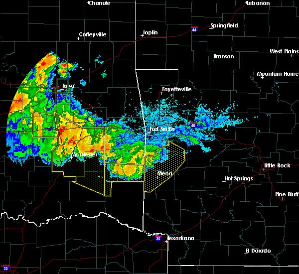 Radar Image for Severe Thunderstorms near Broken Bow, OK at 7/11/2020 11:22 PM CDT