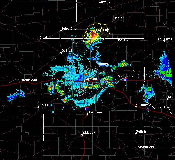 Radar Image for Severe Thunderstorms near Hooker, OK at 7/11/2020 11:29 PM CDT