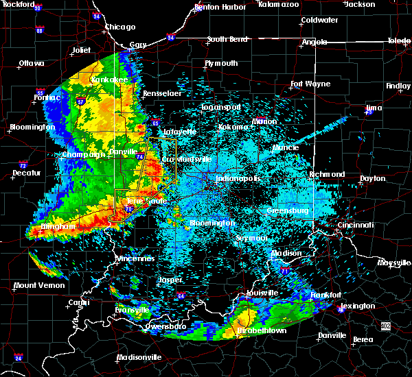 Radar Image for Severe Thunderstorms near Indianapolis, IN at 7/12/2020 12:32 AM EDT