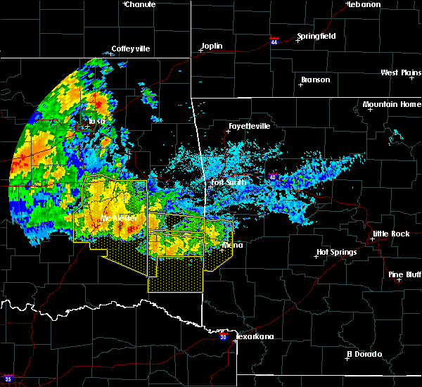 Radar Image for Severe Thunderstorms near Quinton, OK at 7/11/2020 11:36 PM CDT
