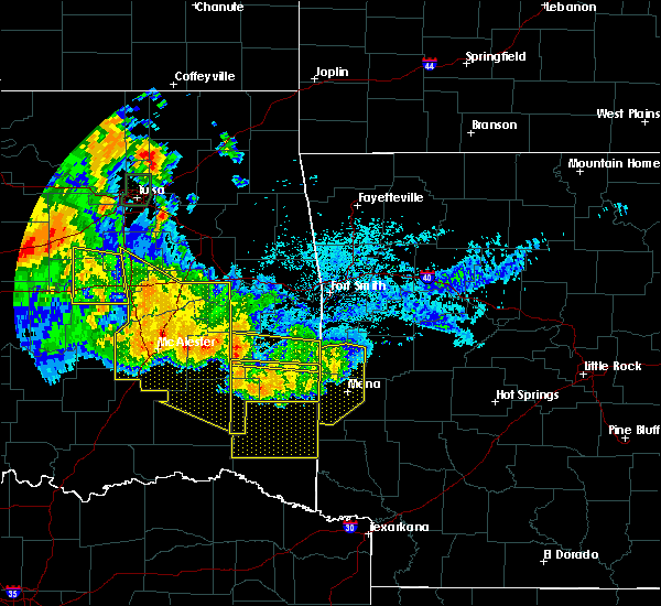 Radar Image for Severe Thunderstorms near Quinton, OK at 7/11/2020 11:35 PM CDT