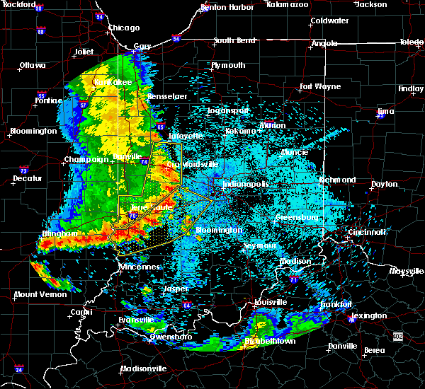 Radar Image for Severe Thunderstorms near Indianapolis, IN at 7/12/2020 12:43 AM EDT