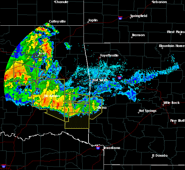 Radar Image for Severe Thunderstorms near Albion, OK at 7/11/2020 11:47 PM CDT