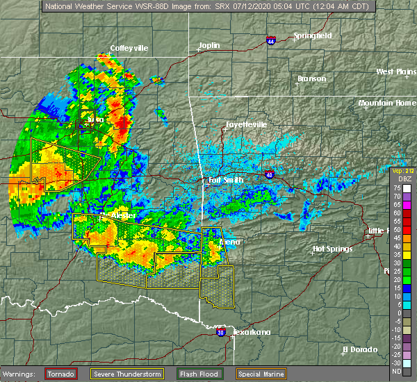 Radar Image for Severe Thunderstorms near Albion, OK at 7/12/2020 12:09 AM CDT