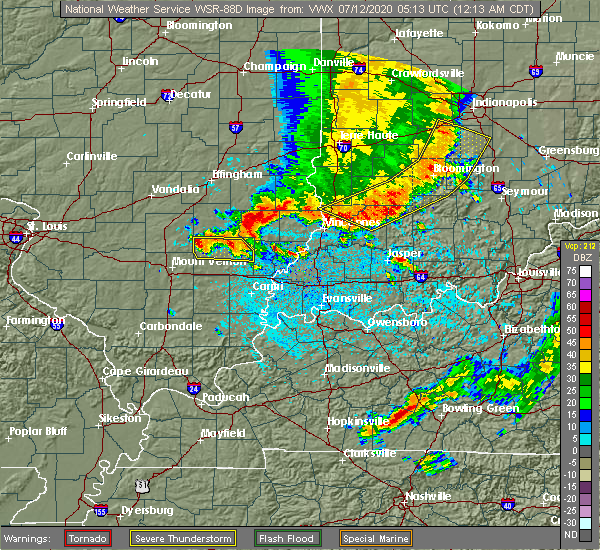 Radar Image for Severe Thunderstorms near Johnsonville, IL at 7/12/2020 12:16 AM CDT