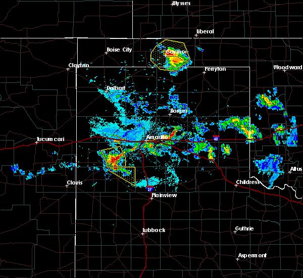 Radar Image for Severe Thunderstorms near Hooker, OK at 7/12/2020 12:17 AM CDT