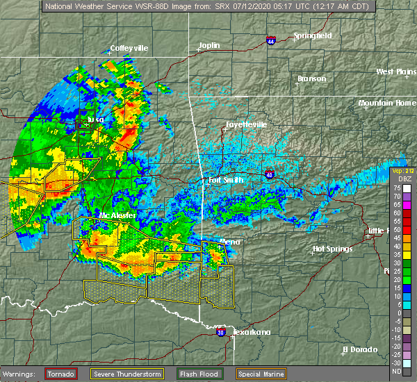 Radar Image for Severe Thunderstorms near Antlers, OK at 7/12/2020 12:22 AM CDT