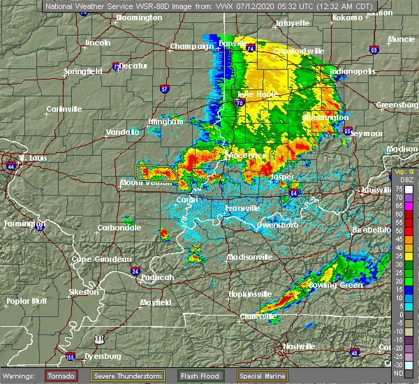 Radar Image for Severe Thunderstorms near Johnsonville, IL at 7/12/2020 12:37 AM CDT