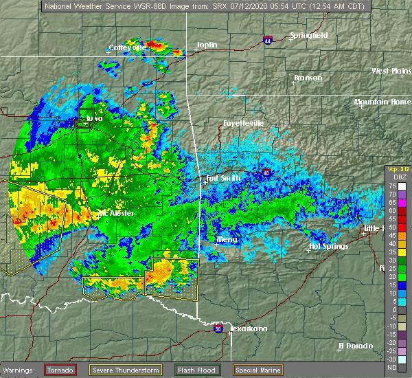 Radar Image for Severe Thunderstorms near Sawyer, OK at 7/12/2020 12:56 AM CDT