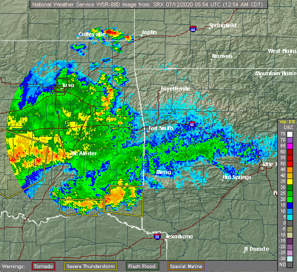 Radar Image for Severe Thunderstorms near Paris, TX at 7/12/2020 12:58 AM CDT