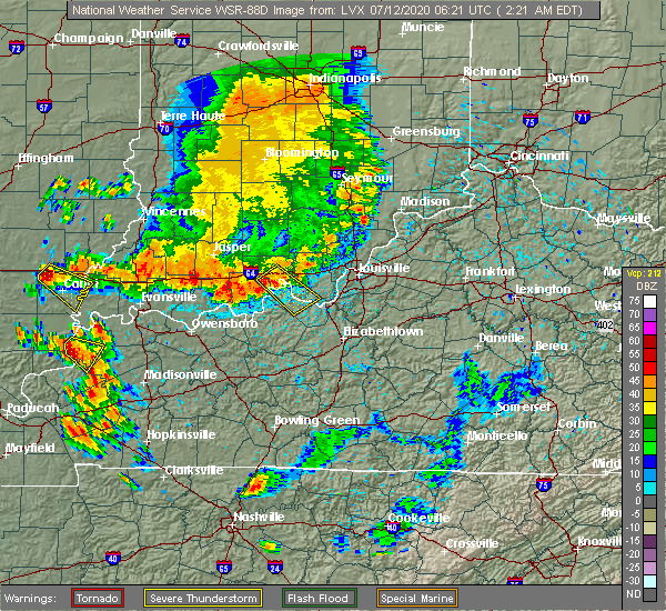 Radar Image for Severe Thunderstorms near Alton, IN at 7/12/2020 2:28 AM EDT