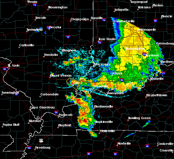 Radar Image for Severe Thunderstorms near Maunie, IL at 7/12/2020 1:43 AM CDT