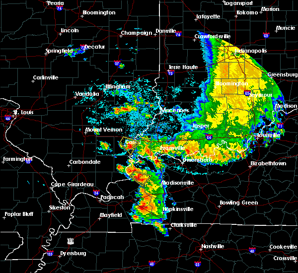 Radar Image for Severe Thunderstorms near Clay, KY at 7/12/2020 1:54 AM CDT