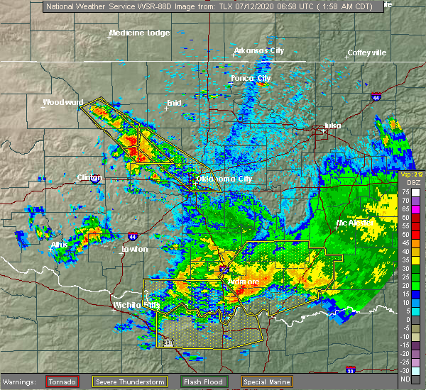 Radar Image for Severe Thunderstorms near Caney, OK at 7/12/2020 2:04 AM CDT