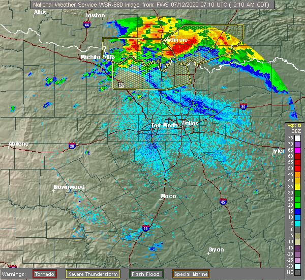 Radar Image for Severe Thunderstorms near Marietta, OK at 7/12/2020 2:14 AM CDT
