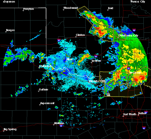 Radar Image for Severe Thunderstorms near Cyril, OK at 7/12/2020 2:25 AM CDT