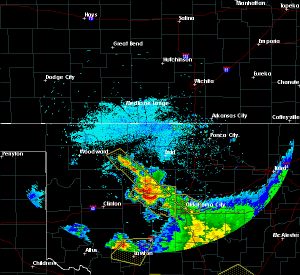 Radar Image for Severe Thunderstorms near Kingfisher, OK at 7/12/2020 2:27 AM CDT