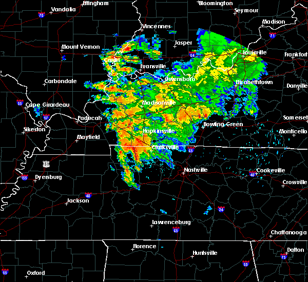 Radar Image for Severe Thunderstorms near Clarksville, TN at 7/12/2020 3:02 AM CDT