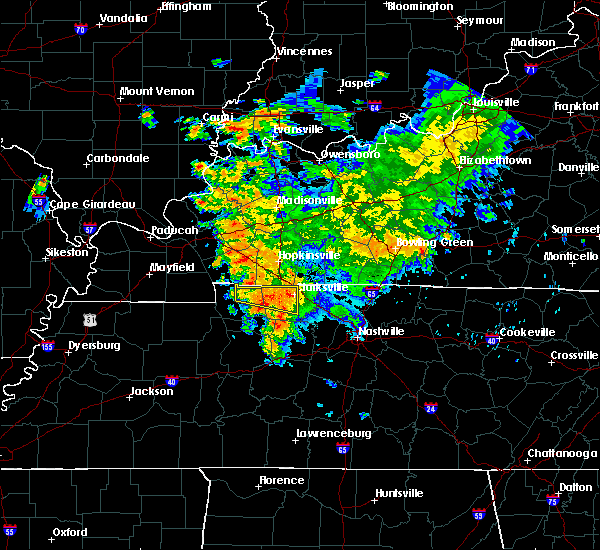 Radar Image for Severe Thunderstorms near Clarksville, TN at 7/12/2020 3:28 AM CDT