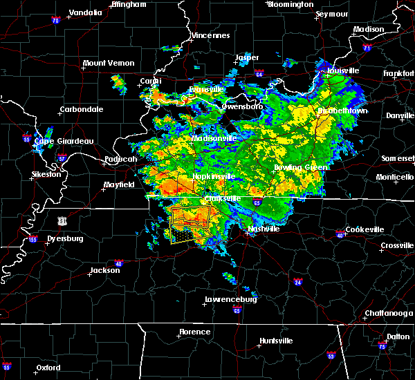 Radar Image for Severe Thunderstorms near Clarksville, TN at 7/12/2020 3:55 AM CDT