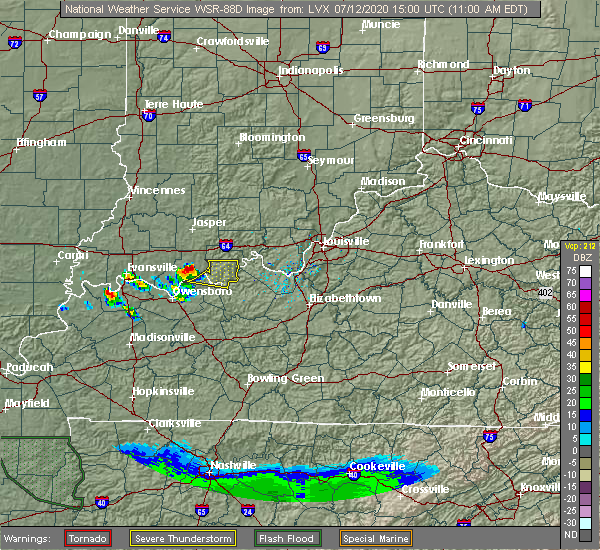 Radar Image for Severe Thunderstorms near Lewisport, KY at 7/12/2020 10:02 AM CDT