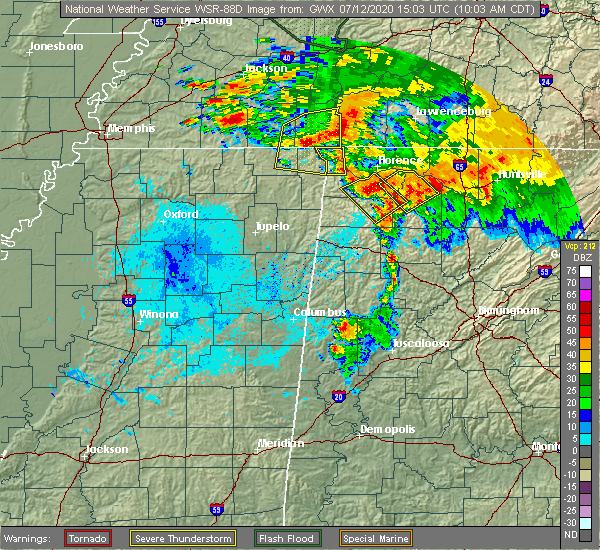 Radar Image for Severe Thunderstorms near Walnut Grove, TN at 7/12/2020 10:10 AM CDT