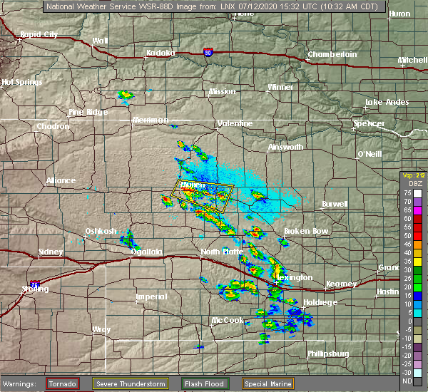 Radar Image for Severe Thunderstorms near Mullen, NE at 7/12/2020 10:34 AM CDT