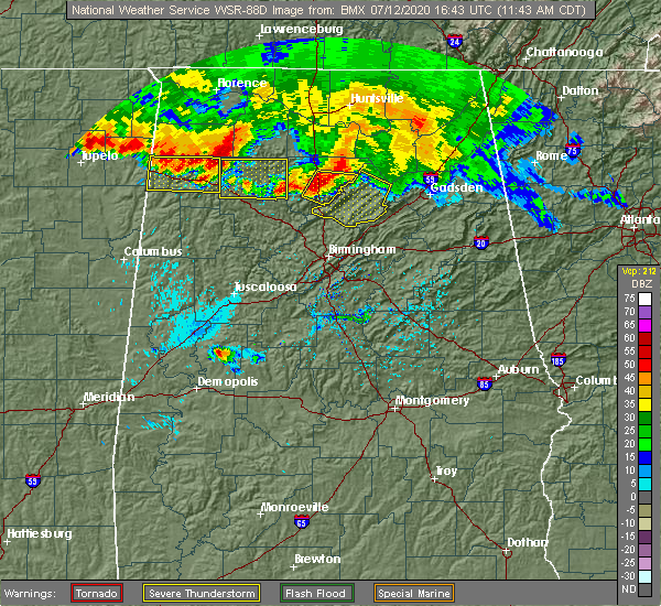 Radar Image for Severe Thunderstorms near Snead, AL at 7/12/2020 11:51 AM CDT