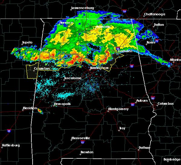 Radar Image for Severe Thunderstorms near Birmingham, AL at 7/12/2020 12:52 PM CDT