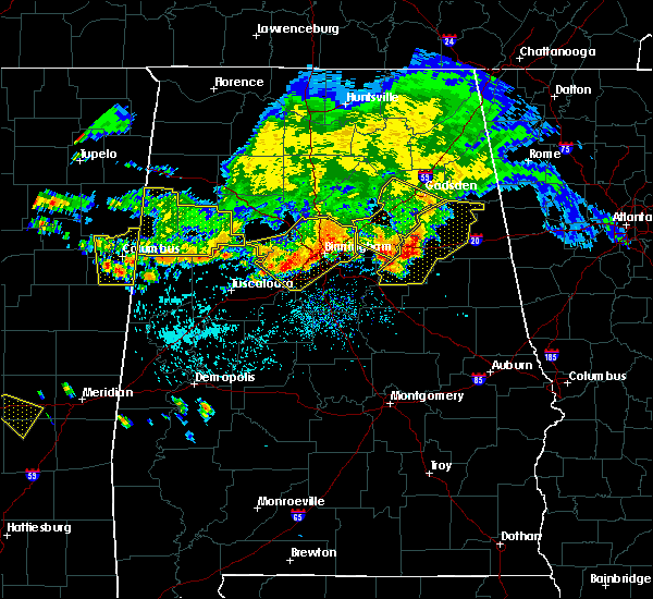 Radar Image for Severe Thunderstorms near Meadowbrook, AL at 7/12/2020 1:28 PM CDT