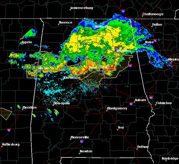 Radar Image for Severe Thunderstorms near Birmingham, AL at 7/12/2020 1:31 PM CDT
