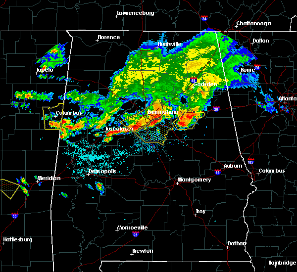 Radar Image for Severe Thunderstorms near Oxford, AL at 7/12/2020 1:46 PM CDT