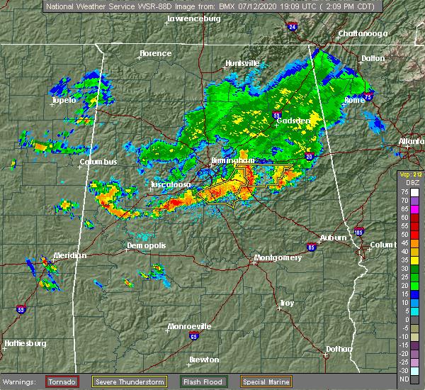 Radar Image for Severe Thunderstorms near Sylacauga, AL at 7/12/2020 2:19 PM CDT