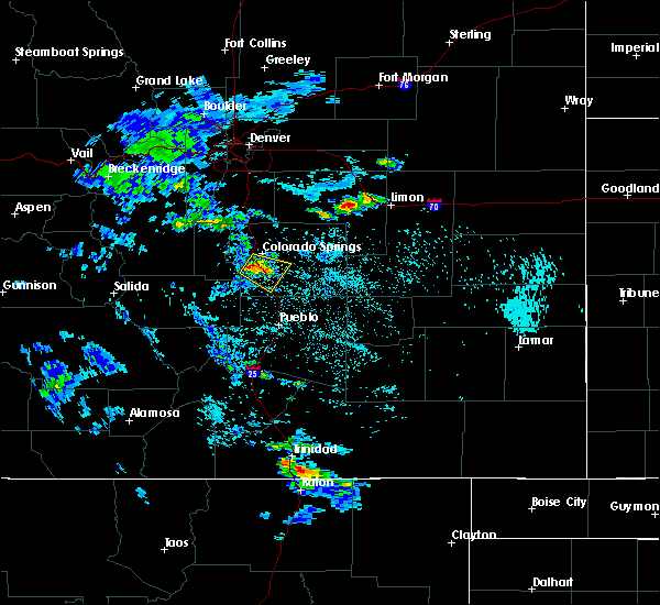 Radar Image for Severe Thunderstorms near Security-Widefield, CO at 7/12/2020 1:40 PM MDT