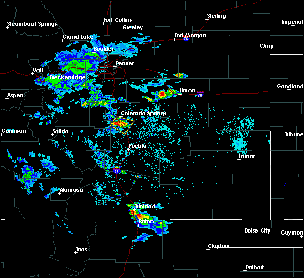 Radar Image for Severe Thunderstorms near Security-Widefield, CO at 7/12/2020 1:56 PM MDT