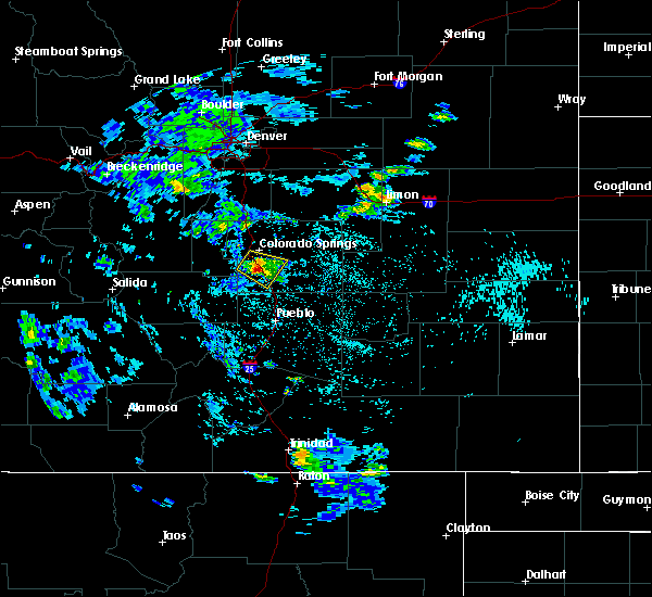 Radar Image for Severe Thunderstorms near Security-Widefield, CO at 7/12/2020 2:09 PM MDT