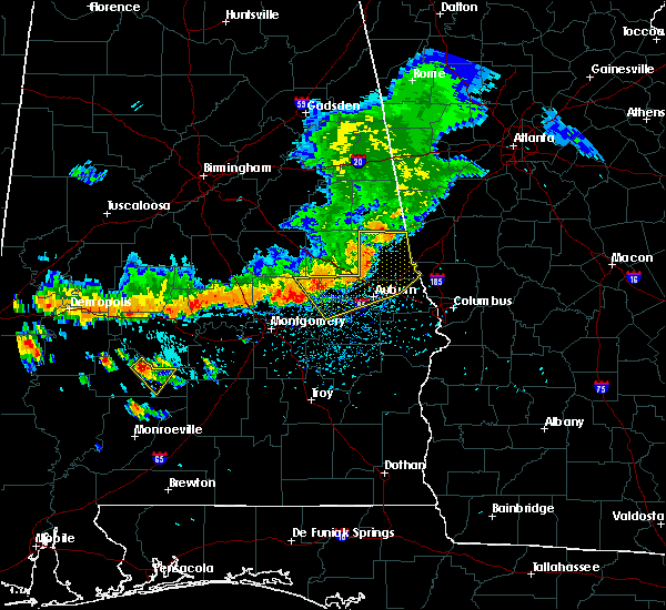 Radar Image for Severe Thunderstorms near Tallassee, AL at 7/12/2020 3:38 PM CDT