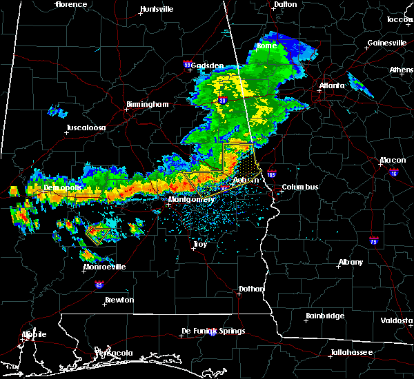 Radar Image for Severe Thunderstorms near Tallassee, AL at 7/12/2020 3:48 PM CDT
