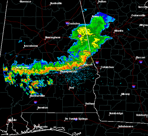Radar Image for Severe Thunderstorms near Tallassee, AL at 7/12/2020 3:52 PM CDT