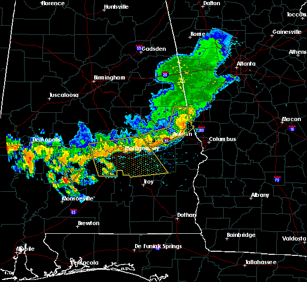 Radar Image for Severe Thunderstorms near Tallassee, AL at 7/12/2020 4:06 PM CDT